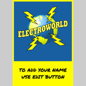 Custom Electroworld Swing Tag and Staff Lanyard.